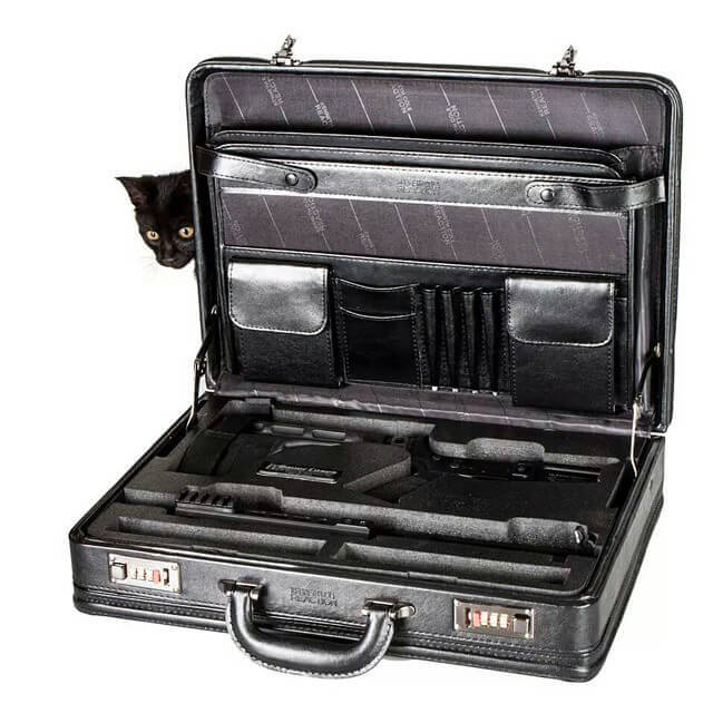 PWS Concealed Carry AR15 Pistol Leather Briefcase AR-15 Case