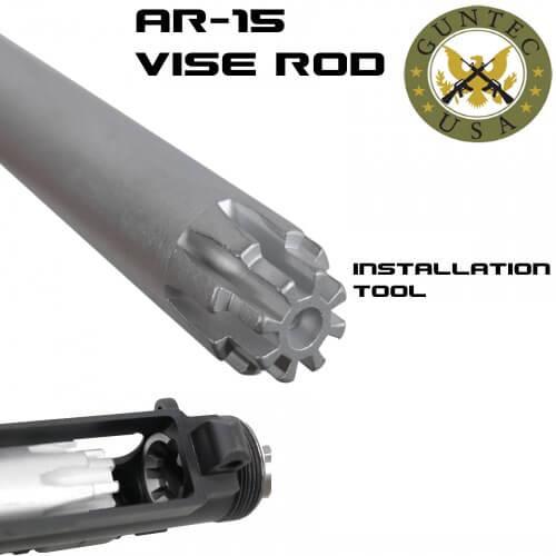 guntec ar15 upper receiver vise rod installation action tool ar