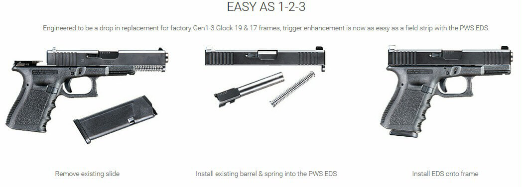 PWS Primary Weapons Enhanced Duty Slide EDS Glock 17 or 19