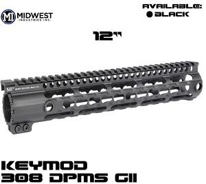 "Midwest 12"" DPMS GII 308 Rifle KeyMod One Piece Free Float Handguard"