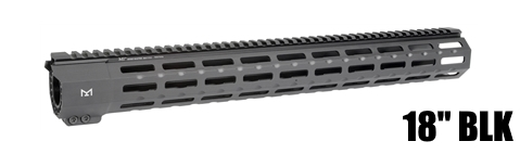 Midwest MI-SP18M-BLK SP Suppressor Compatible One Piece Free Float Handguard M-LOK