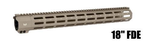 Midwest MI-SP18M-FDE SP Suppressor Compatible One Piece Free Float Handguard M-LOK
