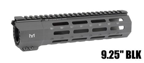 Midwest MI-SP9M-BLK SP Suppressor Compatible One Piece Free Float Handguard M-LOK