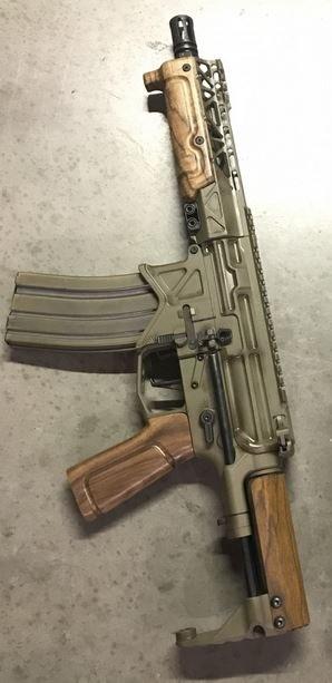 Battle Arms French Walnut Wood AR15 Pistol Grip