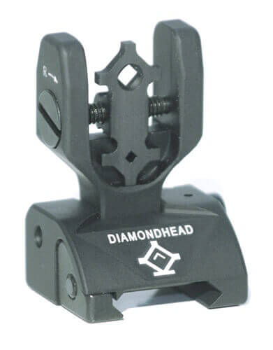 Diamondhead Premium DIAMOND Flip-Up Rear Combat Sight SOG AR15