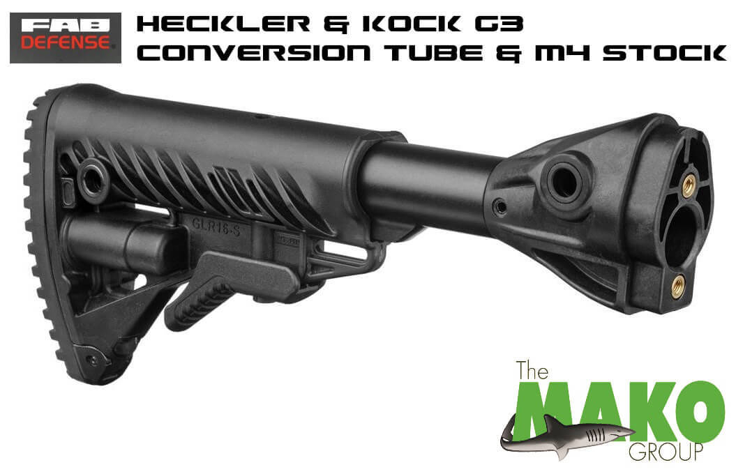 FAB Defense M4-G3 FK Collapsible Buttstock Heckler Koch H&K HK