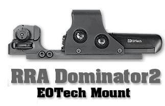 Rock River Arms Dominator2 Fixed Rear A2 Sight and EOTech Riser Mount RRA