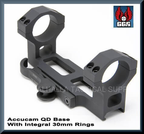 GGG-1198 AR15 Accucam Quick Detach Base + Integral 30mm Rings