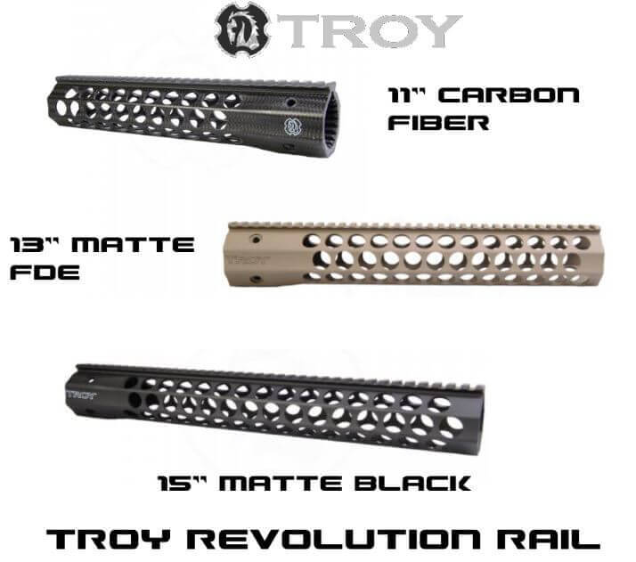Troy Alpha Revolution AR15 556 Carbon Fiber Free Float Handguard