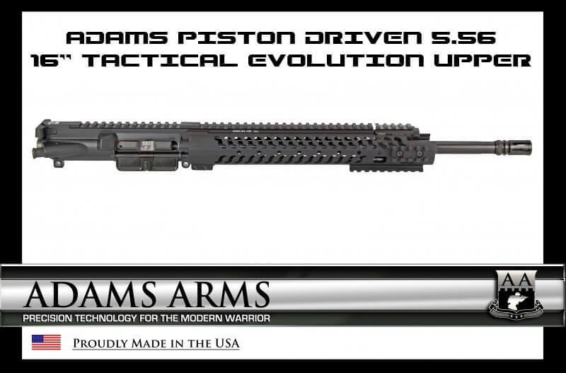 "Adams Arms 16"" Mid-Length Tactical Evo Piston AR15 Upper AR-15"