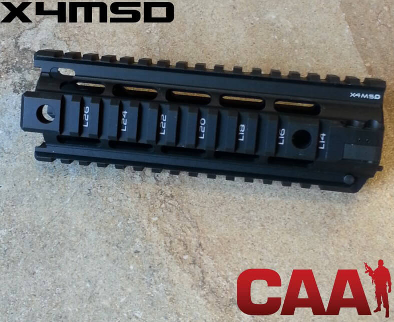 Command Arms CAA Two Piece Free Float Quad Rail System XM4SD Piston Compatible Carbine