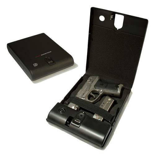BioBox Fingerprint Gun or Valuables Safe Includes Security Cable