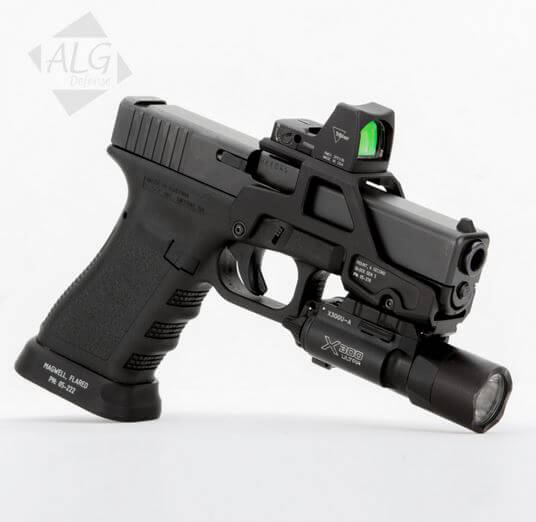 ALG Defense 6-Second Black Glock Mount for RMR or T1 Sight
