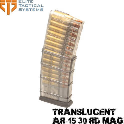 Elite Tactical ETS Translucent Smoke Polymer 30 Rd AR15 Magazine