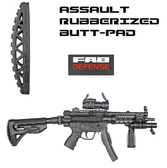 Rubberized Butt-Pad MANEUVERABILITY UPGRADE For FAB Defence Buttstocks BLACK ARP