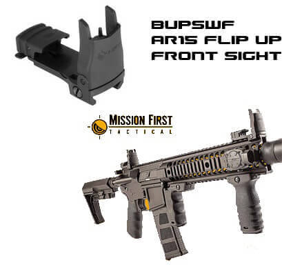 MFT Mission First BUPSWF Flip up AR15 FRONT Sight BUIS AR-15