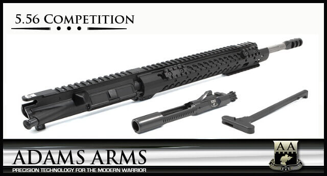 Adams Arms UA-16-M-CO-556 5.56 Competition Midlength Stainless Fluted AR-15 Piston Upper AR15
