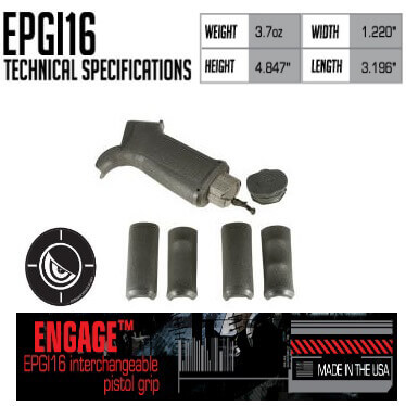 Mission First Tactical MFT EPG16I Engage Pistol Grip Interchange
