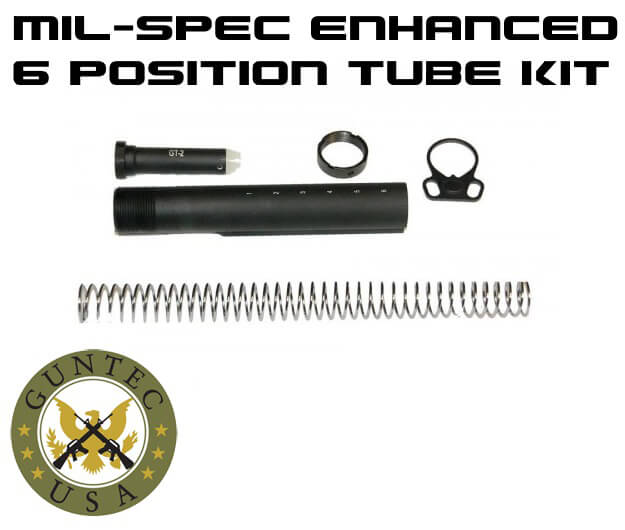 Guntec USA Made AR15 Mil-spec Ambi Collapsible Tube Kit AR-15