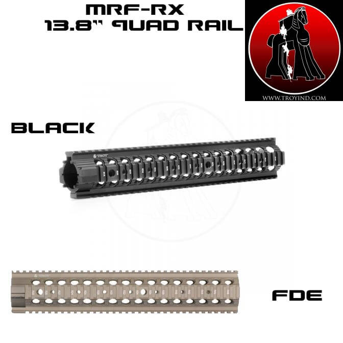 Troy Free Floating AR15 Quad Rail MRF-RX 13.8