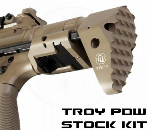 Troy M7A1 Personal Defense Weapon PDW Retractable AR15 Stock Kit