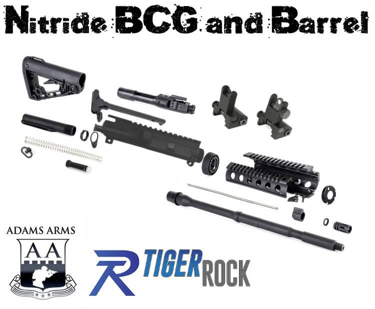 AR-15 Rifle Build Kit Rogers AR15 Super-Stock Nitride Barrel BCG