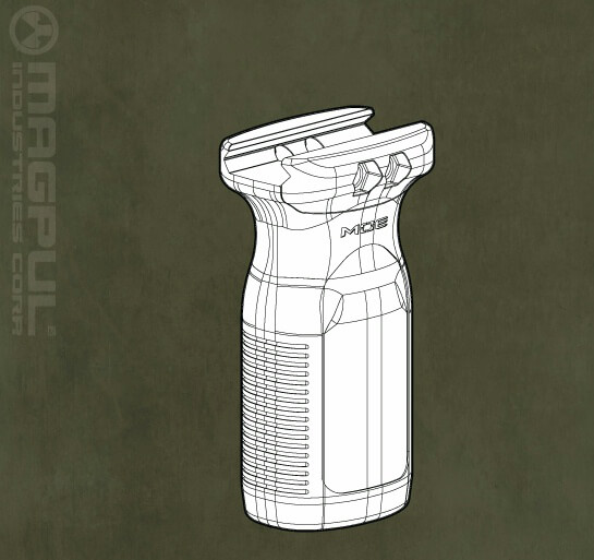 Magpul RVG AR15 Railed Vertical Forward Grip Light AR-15 Foregrip