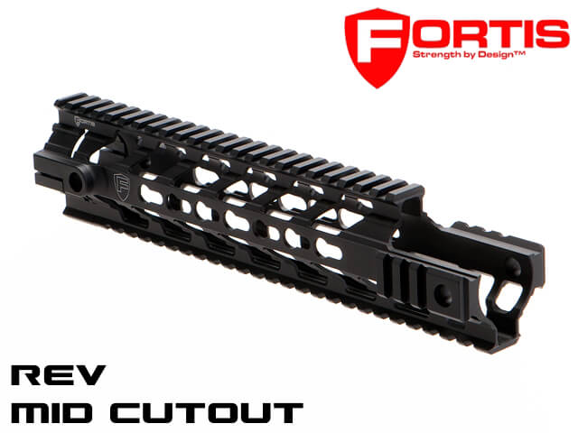 Fortis REV Free Floating Rail System Mid Cutout for Adams Piston
