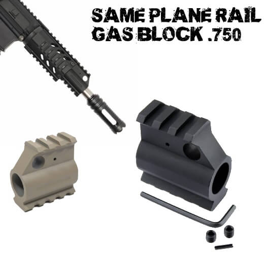 Guntec USA AR15 T6 Aluminum Rail Height Gas Block AR-15 750