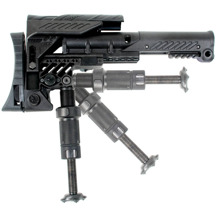 CAA SRS Sniper Stock Command Arms with Leg for Fixed AR15 or 308 AR SR25