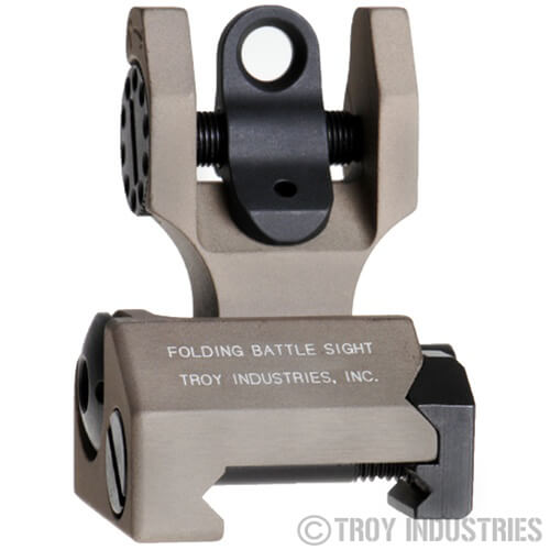 Troy Rear Folding Battle Sight - Flat Dark Earth FDE
