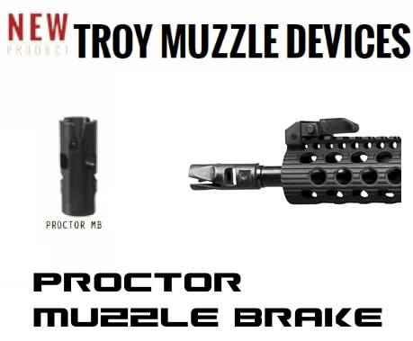 Troy Proctor Muzzle Brake 5.56 .223 AR-15 or 7.62 AR-10