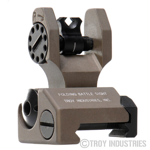 Troy BattleSight Rear Di-Optic Ap DOA Folding Sight FDE Dioptic