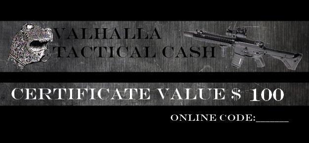 Valhalla Tactical Cash $100 Gift Certificate