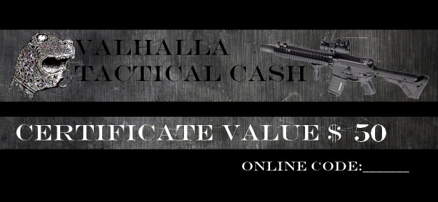 Valhalla Tactical Cash $50 Gift Certificate
