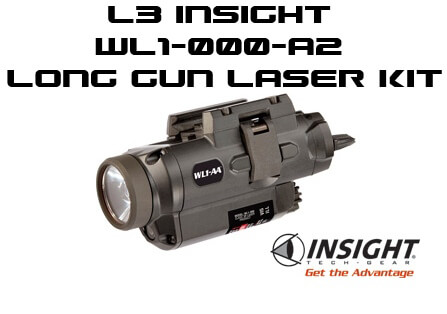 L3 Insight WL1-AA LED Strobe Laser with A2 LG Long Gun Kit