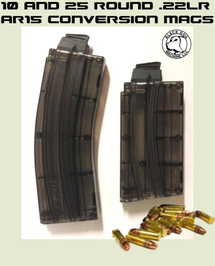 Black Dog Sonic X Translucent Magazine .22 10 or 25 Round .22LR AR15 AR-15 Conversion Mag