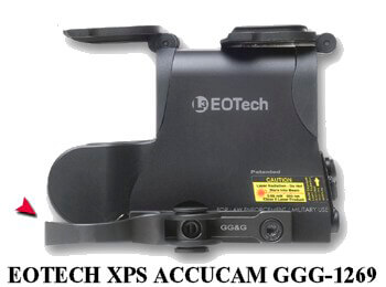 GGG-1269 QD Accucam for Eotech XPS Series GG&G Quick Detach Lever Mount