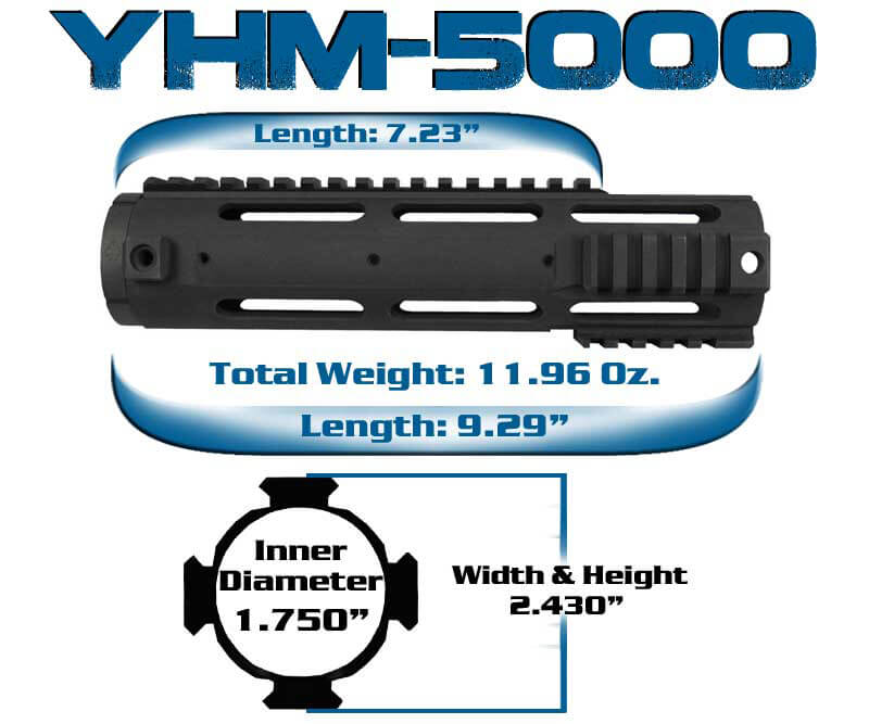 YHM-5000 Yankee Hill Machine Carbine Length Smooth AR15 Forearm