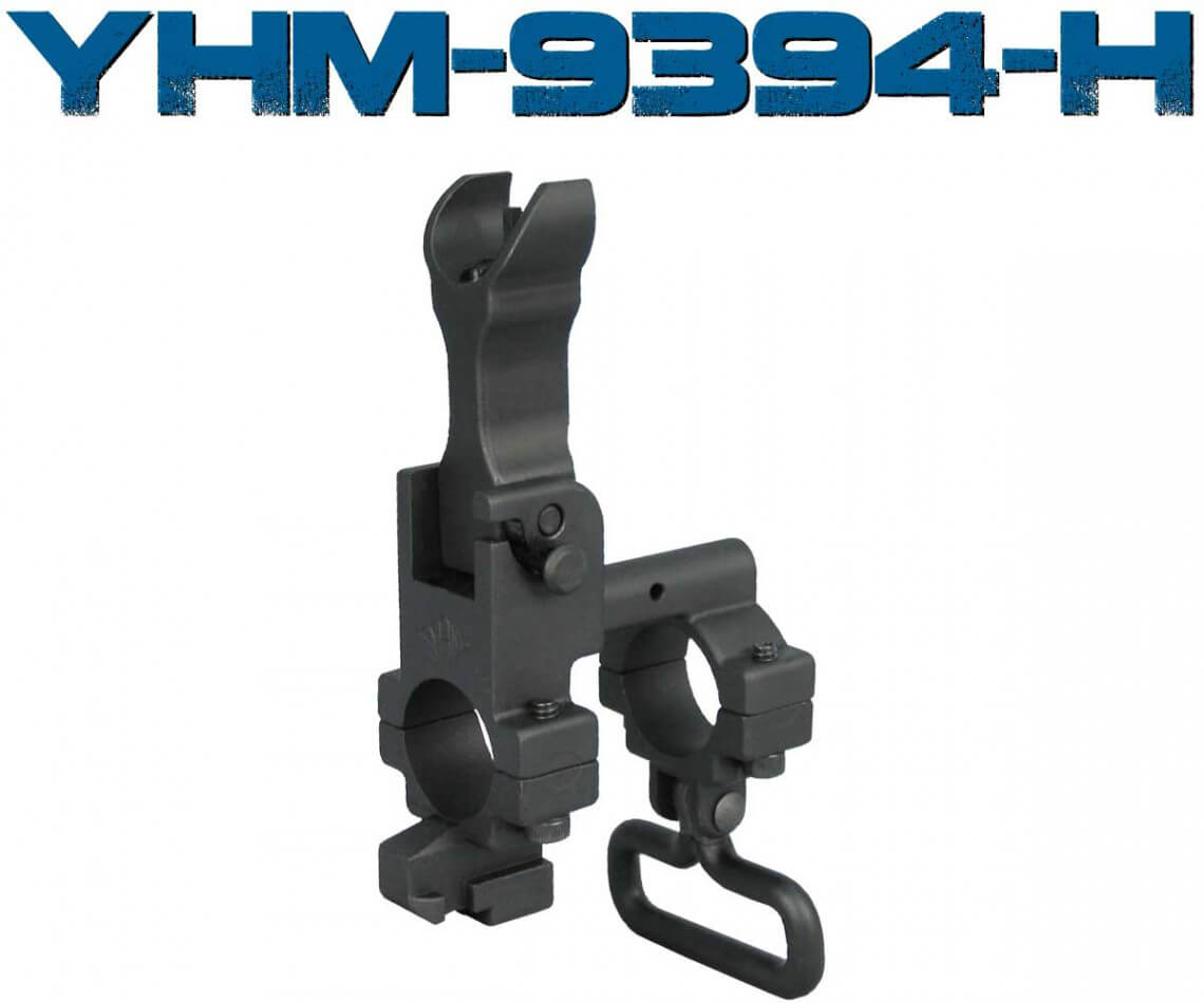 YHM Hooded Front Flip Sight Tower Gas Block Yankee Hill