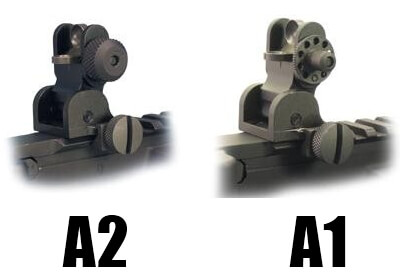 YHM Yankee Hill 9680 A1 or A2 Flip Up Rear Sight BUIS
