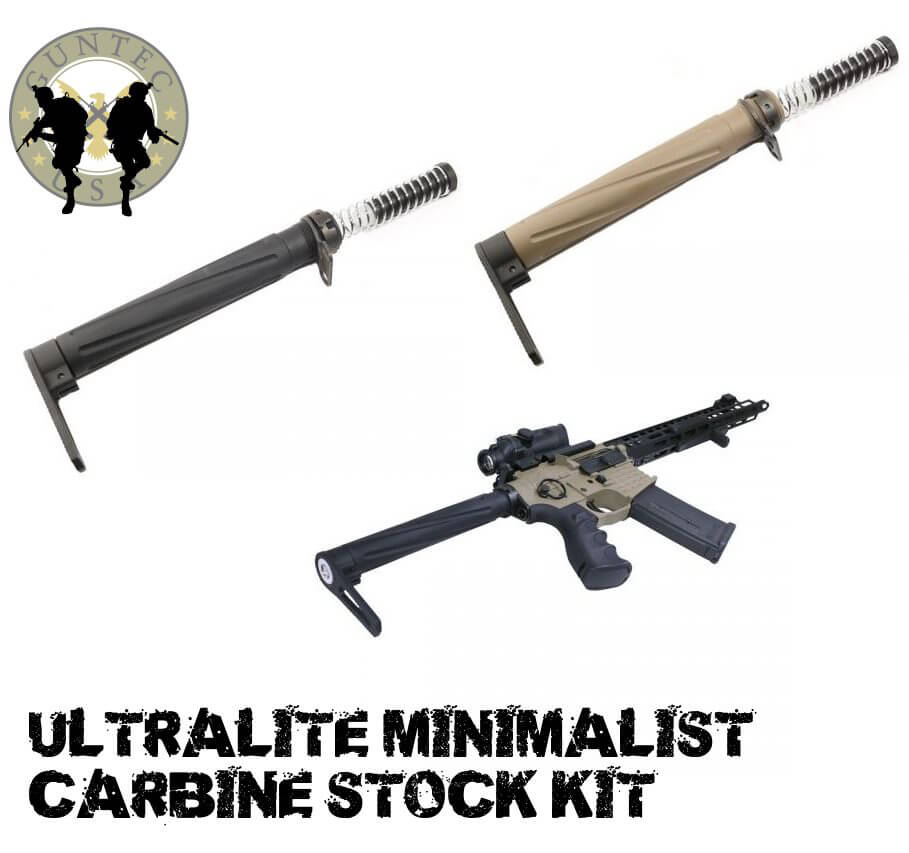 Guntec USA AR15 AIRLITE FDE Minimalist Lightweight Stock Kit AR10 7.62 308 AR-15 Flat Dark Earth