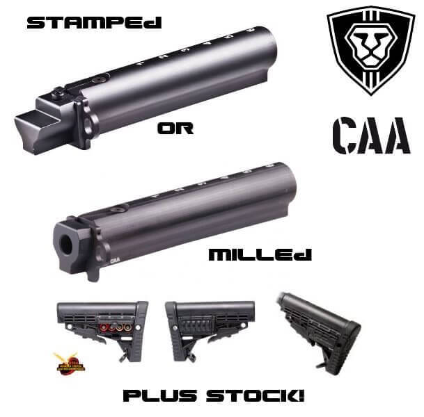 CAA 6 Position CBS Stock + AK47 TO AR15 Conversion Tube Choose Stamped or Milled