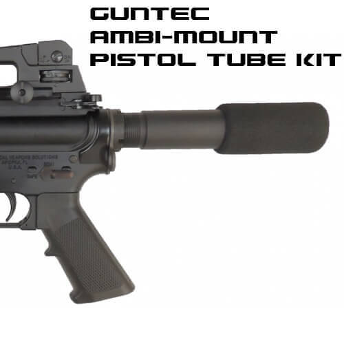Guntec USA RED AR15 Pistol Buffer Tube Ambidextrous Kit AR-15