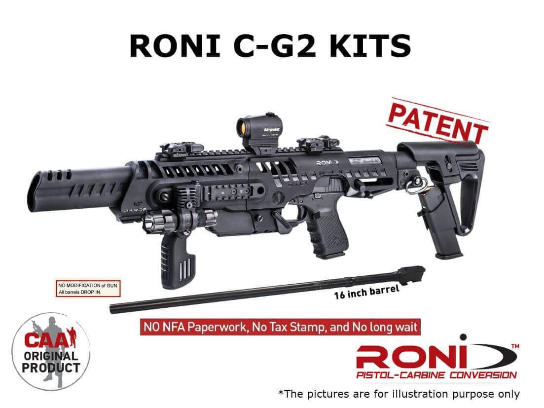 CAA RONI Glock 17 Civilian Pistol to 16 Carbine Conversion C G2