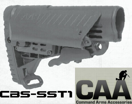 CAA Command Arms CBS SST1 Stock Saddle Collapsible Stock