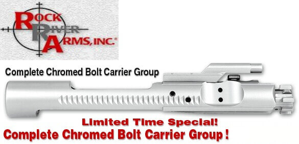 Rock River Arms AR15 CHROME Easy Clean Bolt Carrier Group BCG