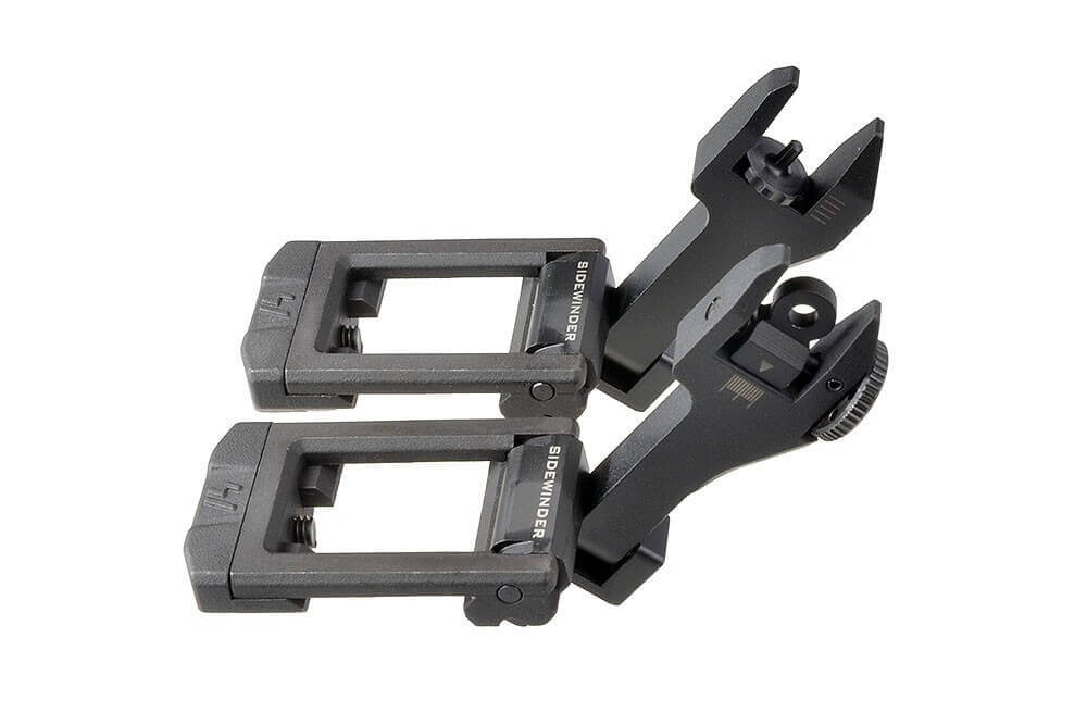 Strike Industries SI-SIDEWINDER BUIS Backup Sight Set Angled Flip