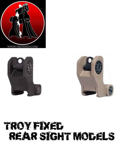 Troy Fixed Rear Sight Available in Black FDE