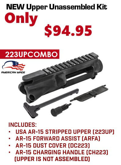 AR-15 Flat-Top Forged 7075 Upper Receiver Made in USA Kit